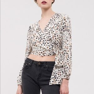 J.O.A Just one Answer Wrap top